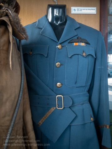 Tunic of 'Jimmy' Woods, a Western Australian who flew with the Royal Flying Corps in Egypt in 1918. Photo: Julian Tennant