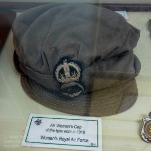 Air Woman's cap of the type worn by the Women's Royal Air Force in 1918. Photo: Julian Tennant