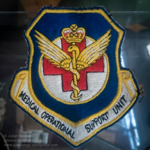 1960's era RAAF Medical Operational Support Unit patch. Photo: Julian Tennant