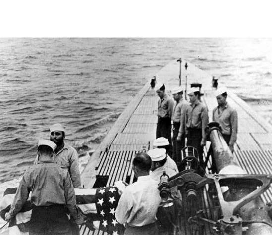 Cobia sea burial of Ralph Clark Huston Jr.