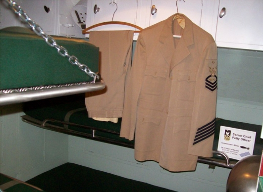 Chief Petty Officer's wardroom, also known as 'the goat locker'. Photo: Courtesy of the Wisconsin Maritime Museum