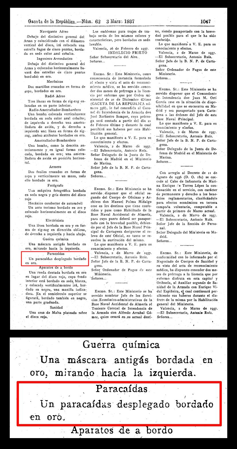 Page from Gaceta de la Republica 62 - 3 March 1937
