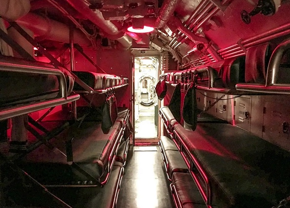 USS Cobia's Crew's Quarters. This room sleeps more than 30 people.Photo: Courtesy of the Wisconsin Maritime Museum