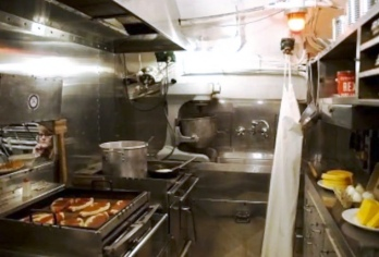 USS Cobia's Crew's Galley. Photo: Courtesy of the Wisconsin Maritime Museum
