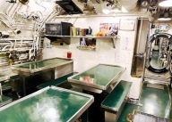 The crew's mess. Board games and cards will be available for your use. Photo: Courtesy of the Wisconsin Maritime Museum