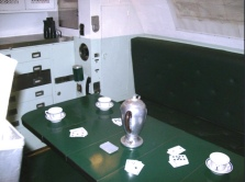 The USS Cobia's Officer's Mess. Photo: Courtesy of the Wisconsin Maritime Museum