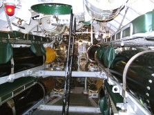 Bunks above the torpedoes in the Aft Torpedo Room. Photo: Courtesy of the Wisconsin Maritime Museum
