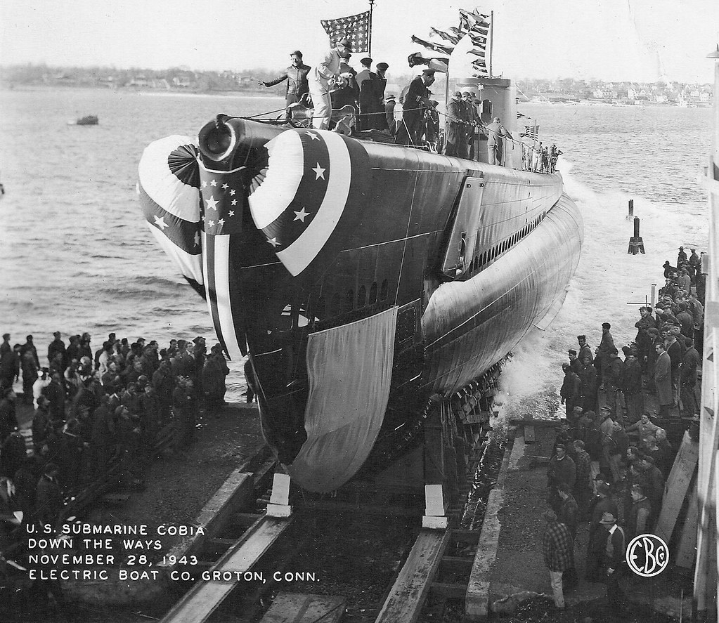 USS Cobia Launch 28 Nov 1943