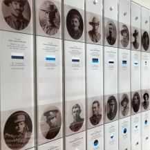 Detail of the honour boards commemoratiing the local soldiers who perished during the First World War. Photo: Julian Tennant