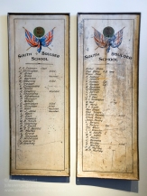 First World War Roll of Honour boards for the South Boulder School. Photo: Julian Tennant