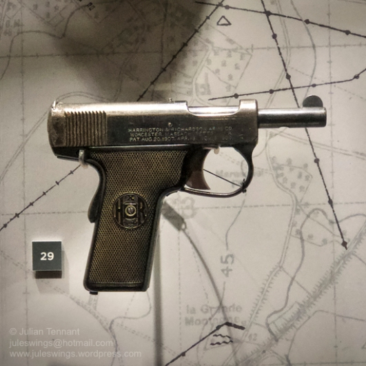 Harrington & Richardson pistol given to Private Matthew Radisich of Boulder by an American airman in Darwin at the end of the Second World War. Photo: Julian Tennant