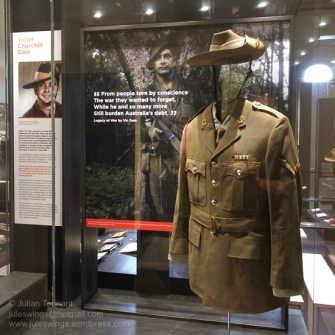 Uniform of Kalgoorlie local, 5411678, Victor Churchill Dale, who served with the 7th Battalion Royal Australian Regiment during their first tour in Vietnam in 1967/8. Photo: Julian Tennant