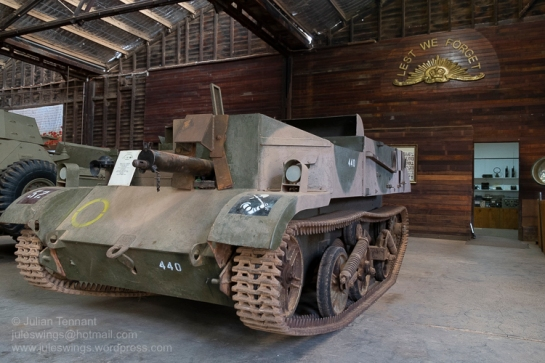 Fully restored Bren Gun Carrier owned by Eddie Woodfield and on display at the Nungarin Heritage Machinery and Army Museum. Photo: Julian Tennant