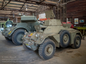 Ferret Scoutcar used by the Australian Army and first produced in 1952. Photo: Julian Tennant