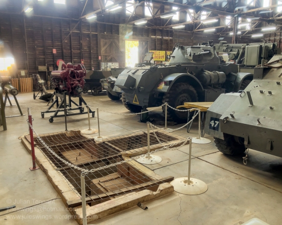 Mechanical workshop pits in the Nungarin Heritage Machinery and Army Museum. Photo: Julian Tennant