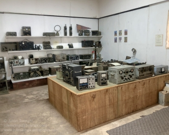 Radio and communications display room at the Nungarin Heritage Machinery and Army Museum. Photo: Julian Tennant