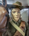 Detail of a 10th Light Horse Regiment trooper on display at the Nungarin Heritage Machinery and Army Museum. Photo: Julian Tennant