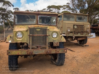 Trucks awaiting restoration at the Nungarin Heritage Machinery and Army Museum. Photo: Julian Tennant