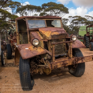 Ford F-60L truck awaiting restoration. Photo: Julian Tennant