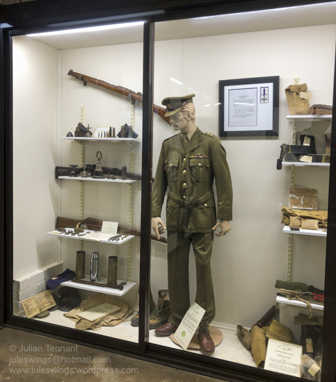 Display cabinet at the Nungarin Heritage Machinery and Army Museum. Photo: Julian Tennant