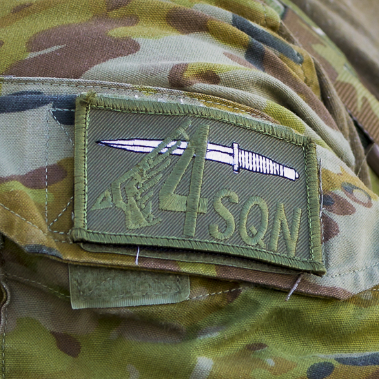 2020. RAAF 4 Squadron shoulder patch worn by the CCT's of B Flight.