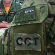 2012. CCT patch and RAAF 4 Squadron patch being worn during Exercise Furu Sumu in 2012.