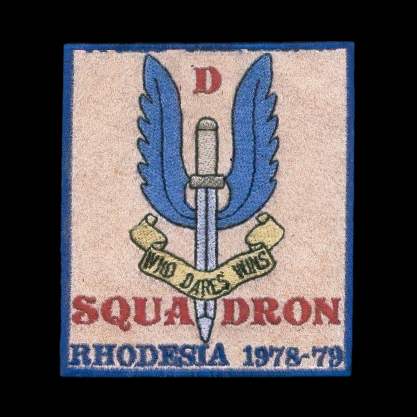 """WANTED: Rhodesia / South Africa unofficial """"D"""" Squadron (South African Recces) patch."""