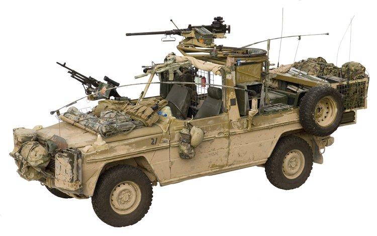 Dutch SF patrol vehicle Afghanistan