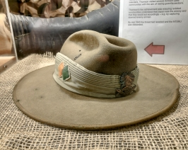 A slightly battered NORFORCE Slouch Hat on display at the Darwin Military Museum. Photo: Julian Tennant