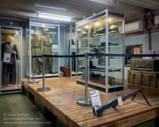 Vietnam War display area at the Darwin Military Museum. Photo: Julian Tennant