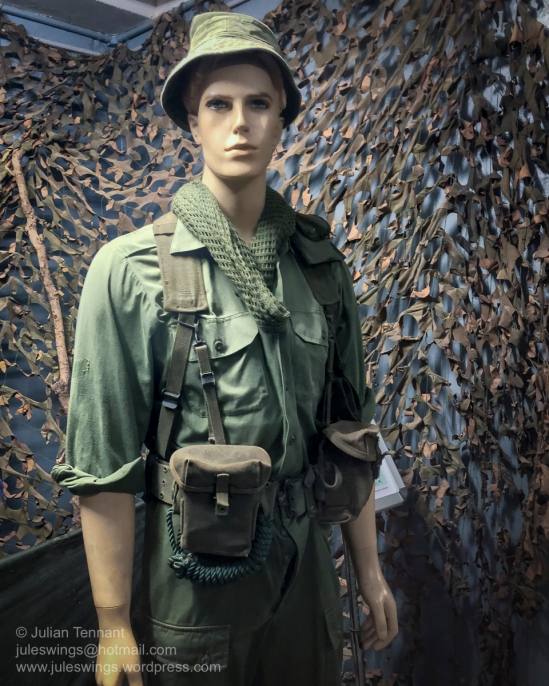 Australian infantryman in the Vietnam War display room of the Darwin Military Museum. Photo: Julian Tennant