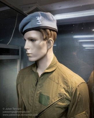 Australian Army Aviation Corps display in the Vietnam War section. Unfortunately this is another mistake on the part of the museum as the badge being worn is that of the 1st Aviation Regiment and was only instituted in 2013-14, long after the end of the Vietnam War. The soldier should be wearing the AAAVn badge on a black backing. Photo: Julian Tennant