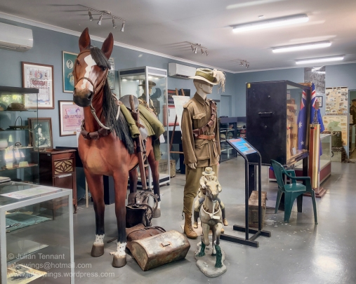The Australia Under Arms Gallery, which highlights a mixture of conflicts. Photo: Julian Tennant