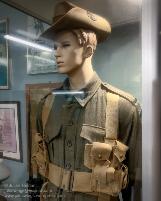 WW1 Australian Infantryman display in the Australians Under Arms gallery. Photo: Julian Tennant