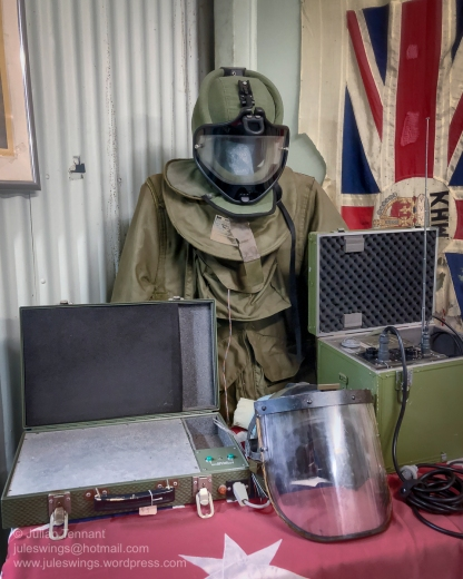 EOD display in the Australians Under Arms gallery. Photo: Julian Tennant