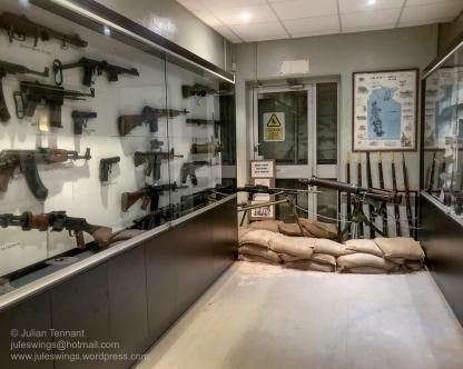 Armoury room at the Darwin Military Museum. Photo: Julian Tennant