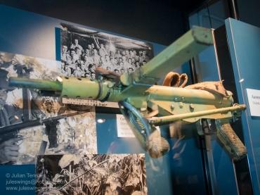 Australian made Austen submachine gun. Photo: Julian Tennant
