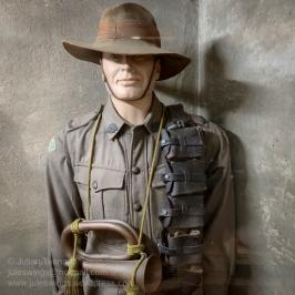 2/1st North Australia Observer Unit (the 'Nackeroos') WWII parade uniform. Photo: Julian Tennant