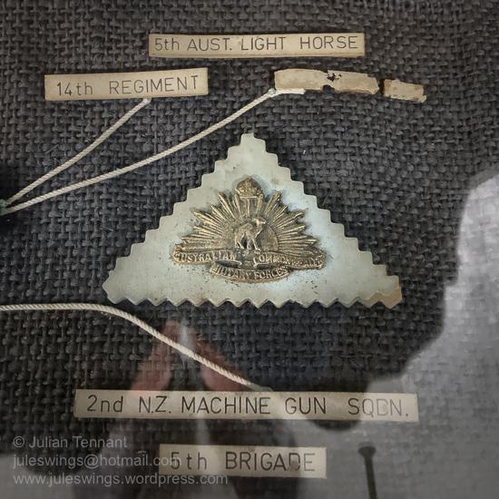 Sandcast, collar sized (Australian) Imperial Camel Corps brigade badge. Photo: Julian Tennant