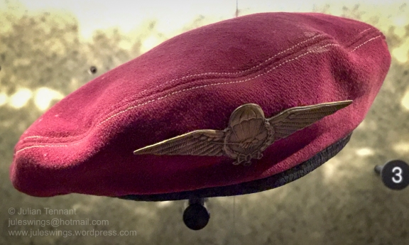 Beret of the Netherlands East Indies Army (KNIL) 1st Parachute Company. During the Second Police Action (19 December 1948 - 5 January 1949) para commando units executed 3 successful parachute operations. Photo: Julian Tennant