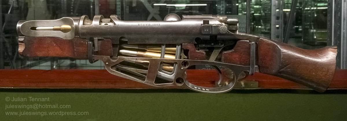Cutaway model of a Steyr Mannlicher Rifle, Model 1892. Photo: Julian Tennant