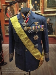 Dress jacket of a high ranking Pilot-Observer qualified Air Force officer in the 'Treasury' room. Photo: Julian Tennant
