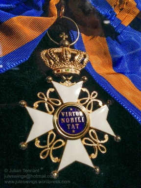 The Order of the Netherlands Lion (De Orde van de Nederlandse Leeuw) is a civilian decoration used to recognise merit in the arts, science, sport and literature. Photo: Julian Tennant