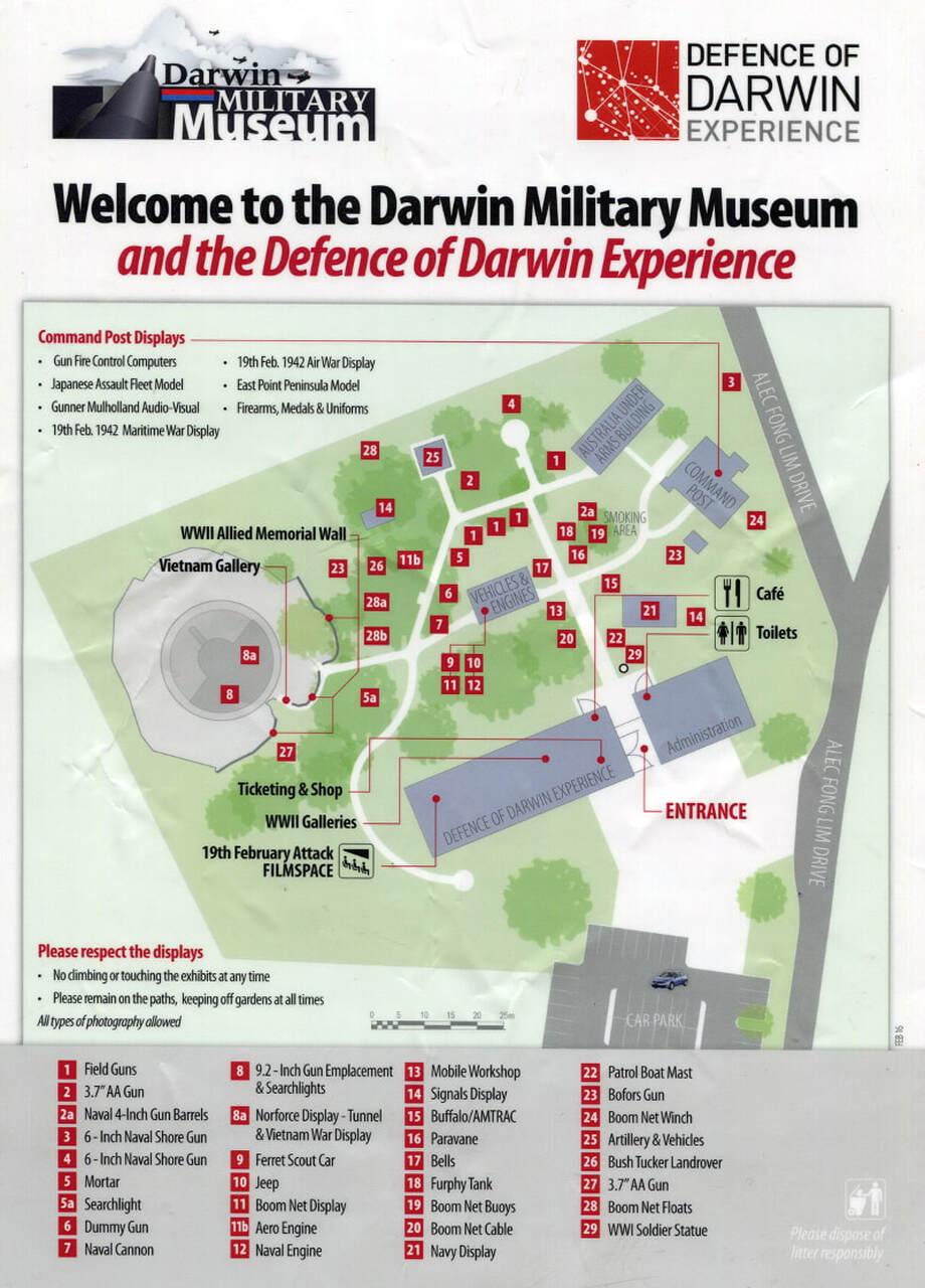 Darwin Military Museum Map