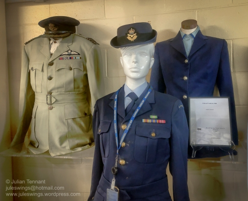 RAAF uniforms on display at the Darwin Aviation Museum. Photo: Julian Tennant