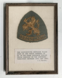 Shoulder patch worn by Dutch members of No. 18 NEI-RAAF Squadron during their service in the Northern Territory between 1943 and 1945. Photo: Julian Tennant