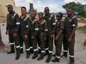 Special Reserve Force instructors at Ruben Danger Ashipala Police Training Centre.