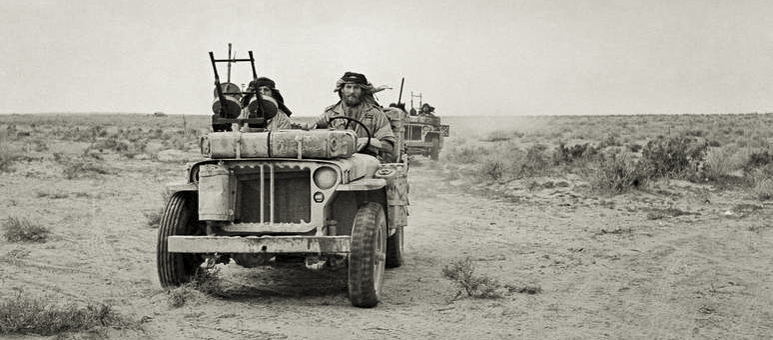 1st sas jeeps north africa