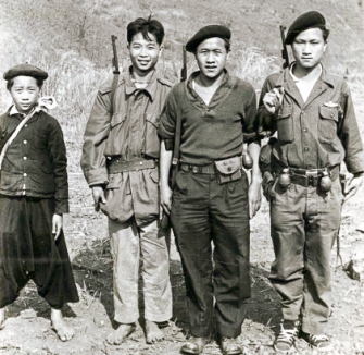"Thai PARU and Hmong fighters. Photo: J. Vinton ""Vint"" Lawrence"