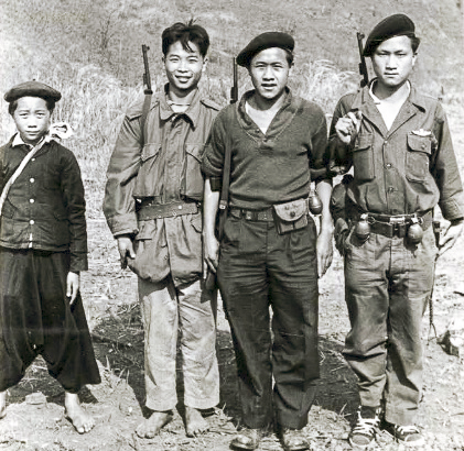 """Thai PARU and Hmong fighters. Photo: J. Vinton """"Vint"""" Lawrence"""